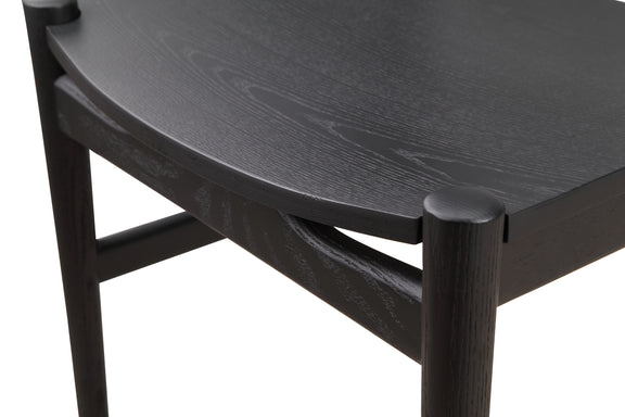 Hiro Dining Chair Wood Seat, Black Ash - Image 6