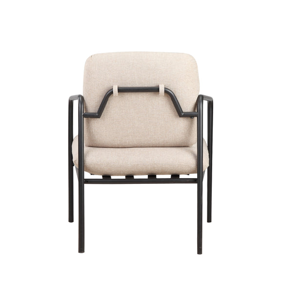 (PRE-ORDER) Kai Lounge Chair, Oatmeal/Black Steel - Image 5
