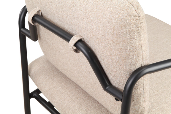 (PRE-ORDER) Kai Lounge Chair, Oatmeal/Black Steel - Image 6