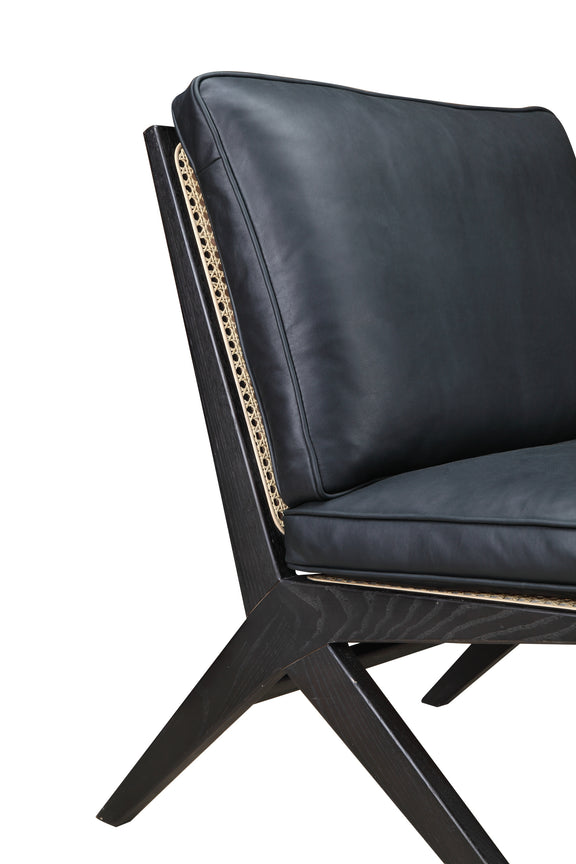 Kyoto Lounge Chair, Black Ash/Black Leather - Image 6