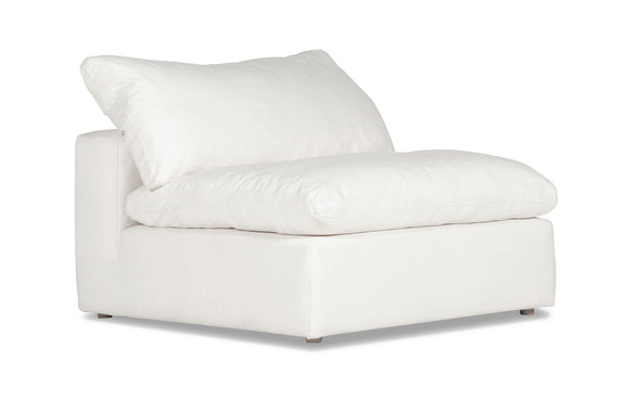 (PRE-ORDER) Movie Night Armless Chair, White Linen - Image 2