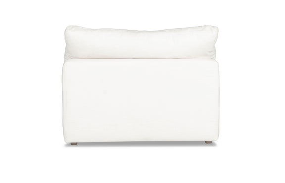 (PRE-ORDER) Movie Night Armless Chair, White Linen - Image 3
