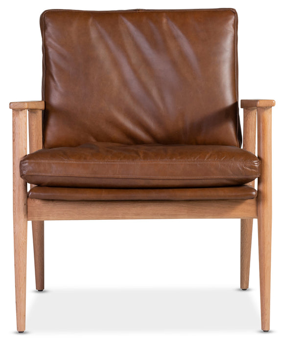 leather chair wood frames