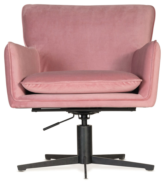 soft pink swivel chair adjustable