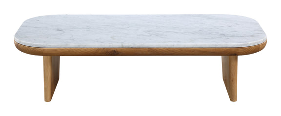 Lay Low Coffee Table, Carrara/Oak - Image 1