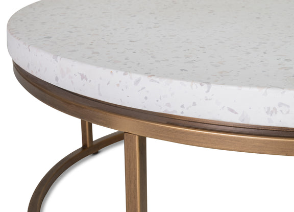 Harmonize Round Coffee Table, Nougat - Image 6