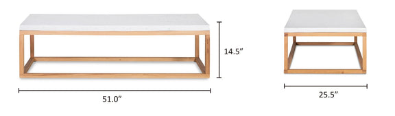 Balance Coffee Table, Nougat