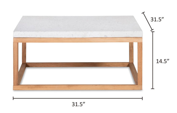 Balance Square Coffee Table, Nougat