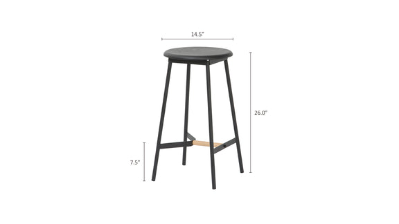(PRE-ORDER) Take The Edge Off Counter Stool, Black