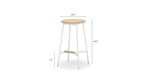 (PRE-ORDER) Take The Edge Off Counter Stool, White