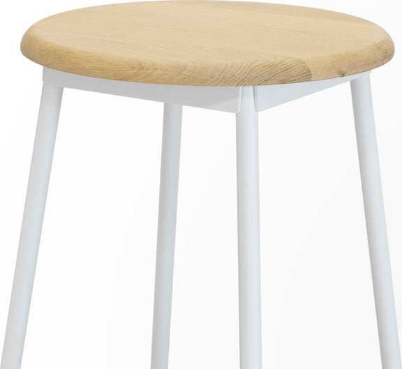 Take The Edge Off Counter Stool, White - Image 4