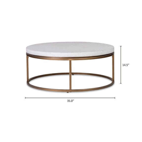 Harmonize Round Coffee Table, Nougat - Image 7