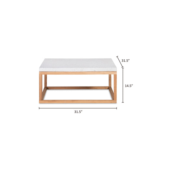 Balance Square Coffee Table, Nougat - Image 9
