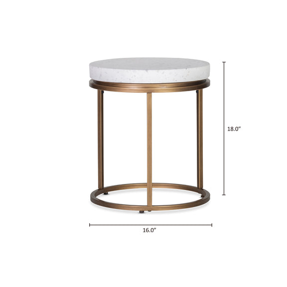 Harmonize Round Side Table, Nougat - Image 7