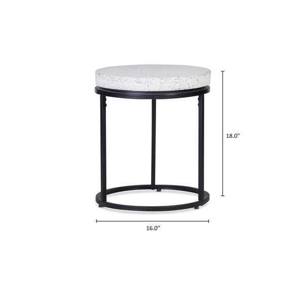 Circulate Round Side Table, Salt and Pepper - Image 7