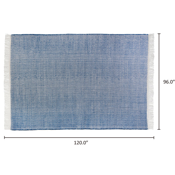 Seaside Rug 8x10, Blueberry