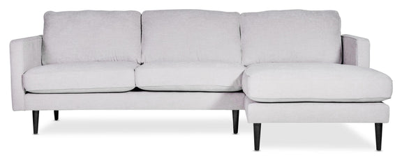 (PRE-ORDER) Unwind Sectional Right, Fog - Image 10