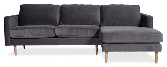 Unwind Sectional Left, Smoky - Image 8
