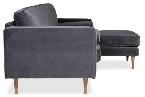Unwind Sectional Right, Smoky - Image 3