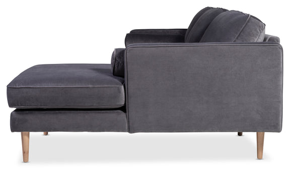 Unwind Sectional Left, Smoky - Image 9