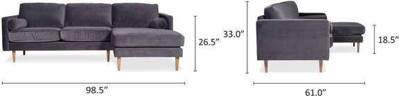 Unwind Sectional Right, Smoky