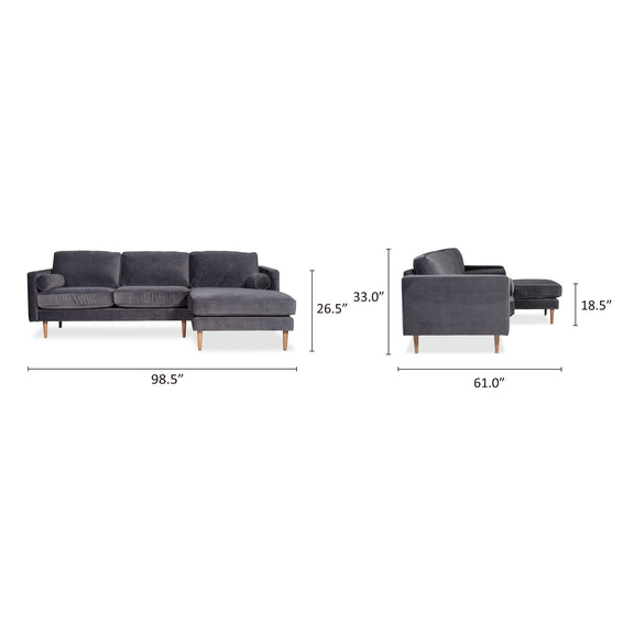 Unwind Sectional Left, Smoky