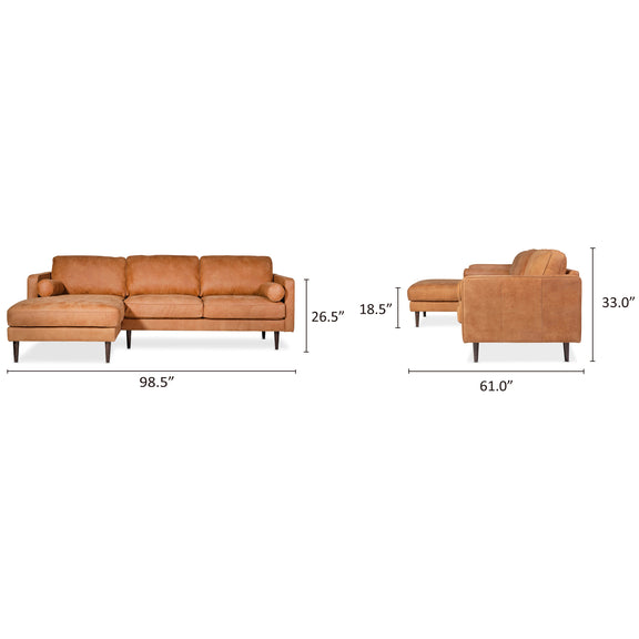 Unwind Sectional Left, Gingersnap