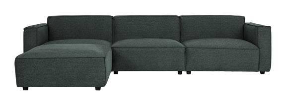 Loft 4-Piece Modular Sectional, Dark Grey - Image 1