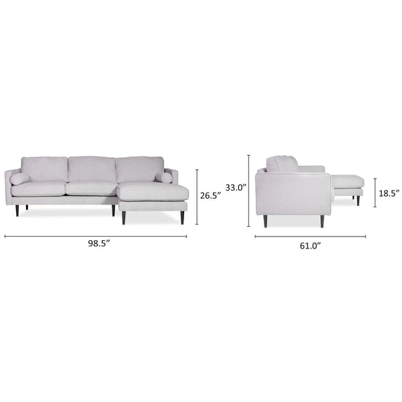 (PRE-ORDER) Unwind Sectional Left, Fog