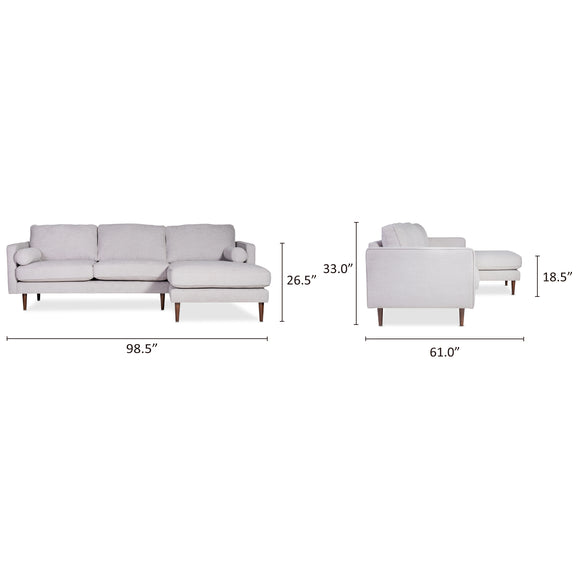 Unwind Sectional Right, Fog