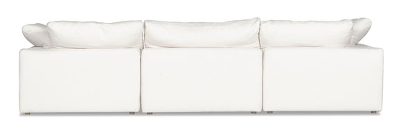 (PRE-ORDER) Movie Night 4-Piece Modular Sectional, White Linen - Image 3