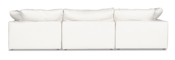 (PRE-ORDER) Movie Night 3-Piece Modular Sofa, White Linen - Image 3