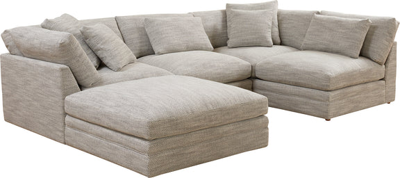 (PRE-ORDER) Feel Good Corner Sectional with Ottoman, Grey - Image 2