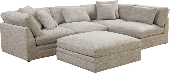 (PRE-ORDER) Feel Good Corner Sectional with Ottoman, Grey - Image 3