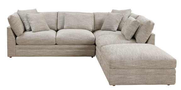 (PRE-ORDER) Feel Good Corner Sectional with Ottoman, Natural