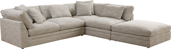 (PRE-ORDER) Feel Good Corner Sectional with Ottoman, Grey - Image 5
