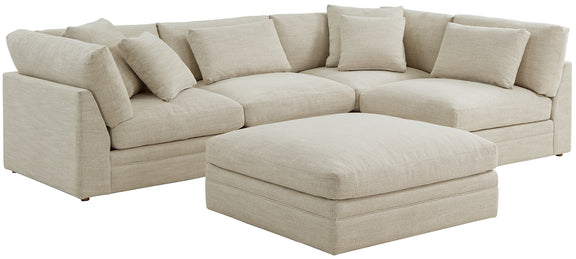 (PRE-ORDER) Feel Good Corner Sectional with Ottoman, Natural - Image 4