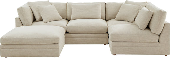 (PRE-ORDER) Feel Good Corner Sectional with Ottoman, Natural - Image 1