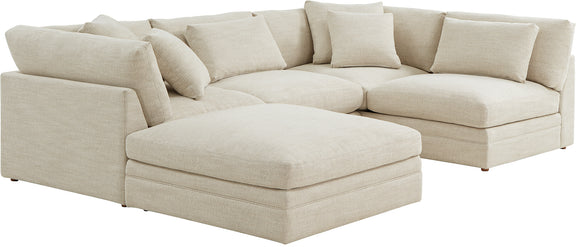 (PRE-ORDER) Feel Good Corner Sectional with Ottoman, Natural - Image 3