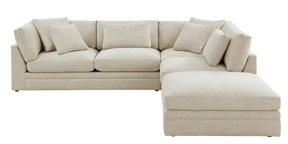 (PRE-ORDER) Feel Good Corner Sectional with Ottoman, Natural - Image 6