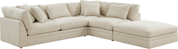 (PRE-ORDER) Feel Good Corner Sectional with Ottoman, Natural - Image 7