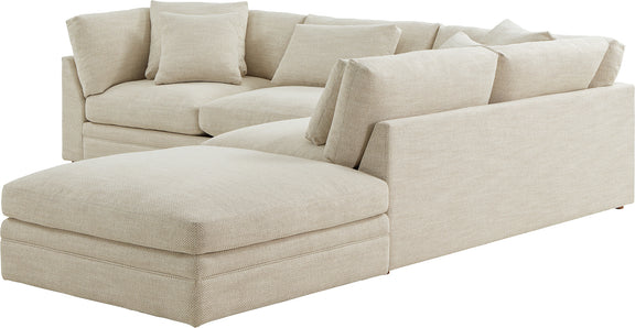 (PRE-ORDER) Feel Good Corner Sectional with Ottoman, Natural - Image 8