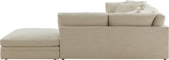 (PRE-ORDER) Feel Good Corner Sectional with Ottoman, Natural - Image 9