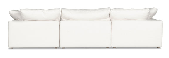 (PRE-ORDER) Movie Night 4-Piece Closed Modular Sectional, White Linen - Image 4