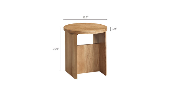 Field Stool, White Oak