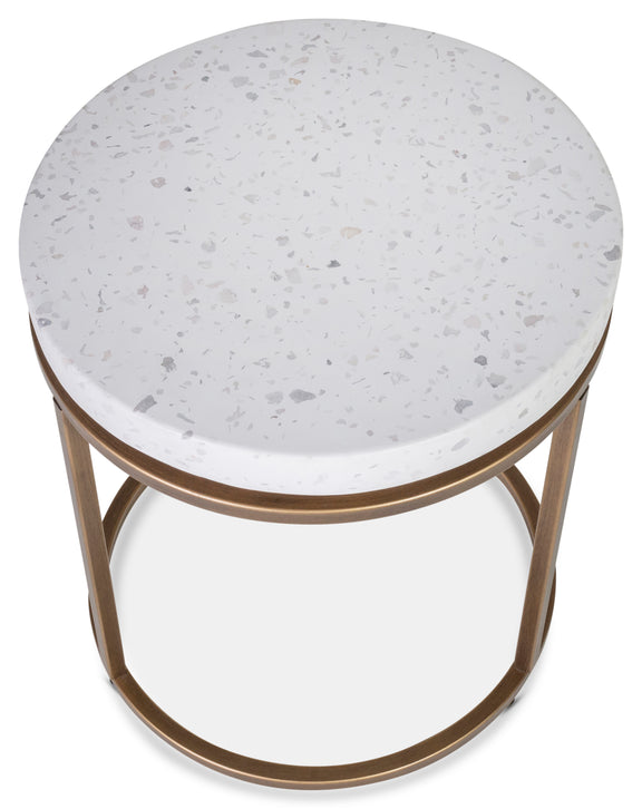 Harmonize Round Side Table, Nougat - Image 3