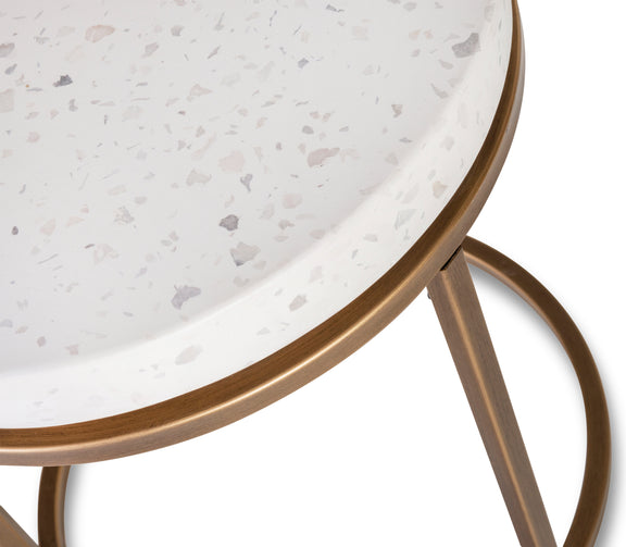 Harmonize Round Side Table, Nougat - Image 5