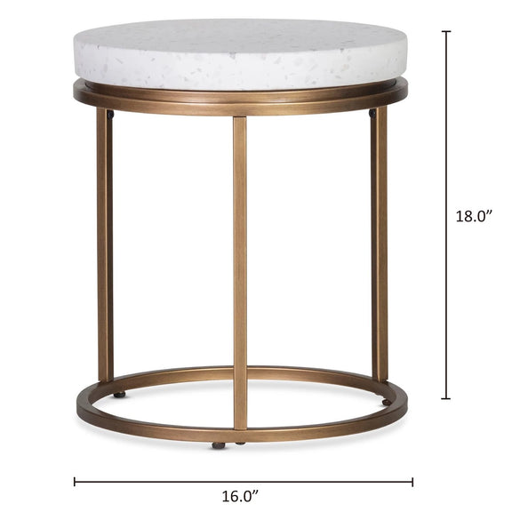 Harmonize Round Side Table, Nougat
