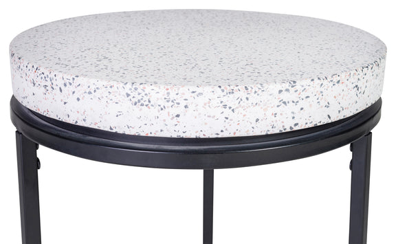 Circulate Round Side Table, Salt and Pepper - Image 4