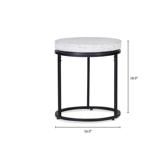 Circulate Round Side Table, Salt and Pepper